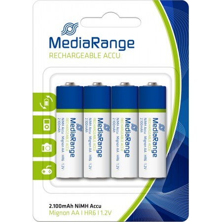 MediaRnage AA 2100mah Rechargeable Batteries 4 pcs