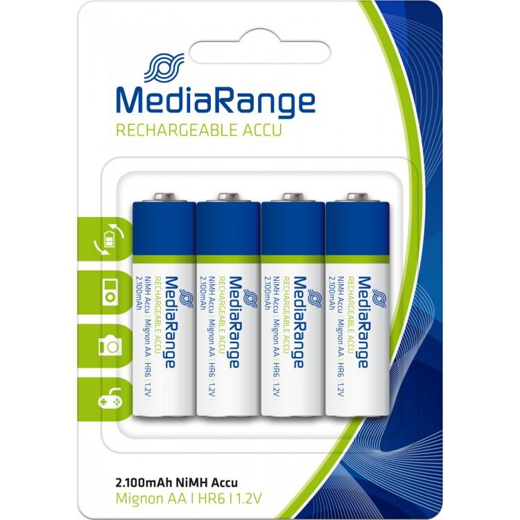 Επαναφορτιζόμενες Μπαταρίες MediaRnage AA  2100mah 4 τμχ