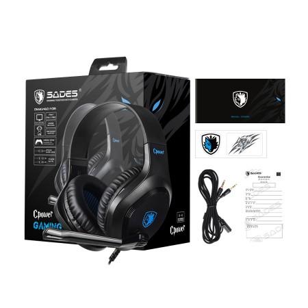 SADES gaming headset Cpower Blue SA-716-BL