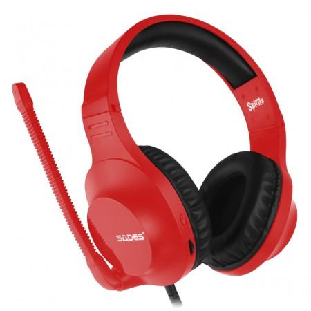 Sades Gaming Headset Spirits SA-721, multiplatform, 3.5mm, κόκκινο