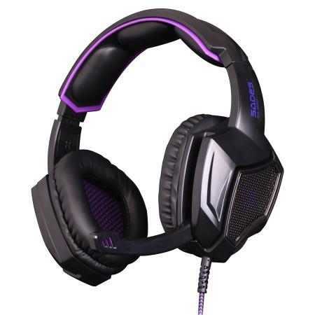 SADES gaming headset SA-920, 3.5mm, 40mm, μαύρο