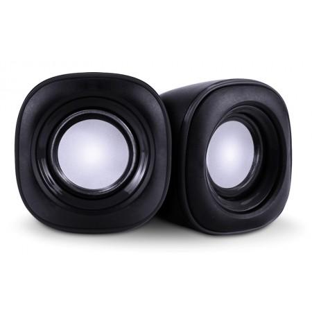 POWERTECH ηχεία Essential sound PT-844, 2x 3W, 3.5mm, μαύρα