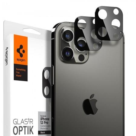 Spigen  Optic.TR  Camera Lens Screen Protector Iphone 12 Pro Max - 2 Pieces - Black (AGL01797)
