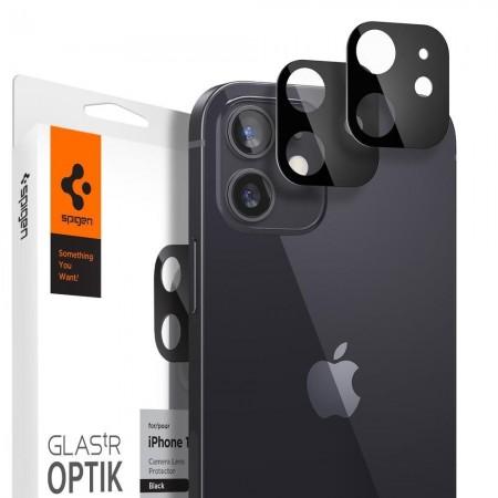 Spigen Optic.TR Camera Lens Screen Protector Iphone 12 Mini - 2 Pieces - Black (AGL01817)