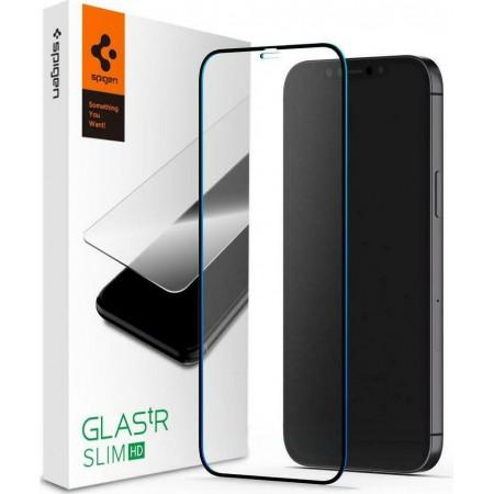 Spigen GLAS.tR Full Face Tempered Glass Black iPhone 12 / 12 Pro AGL01512