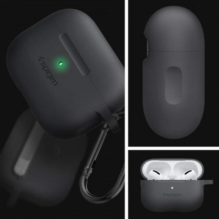 Spigen® Silicone Fit ASD00536 Apple AirPods Pro Case – Charcoal