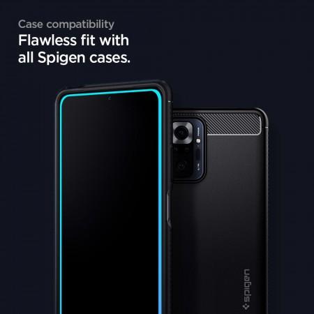 Spigen® GLAS.tR™ Full Cover HD AGL02946 Xiaomi Redmi Note 10 Pro Black