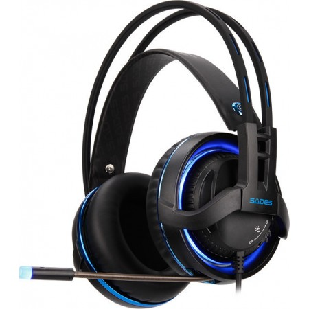 SADES  headset DIABLO USB RGB LED