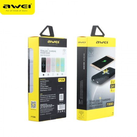 Awei wireless powerbank 7000mah