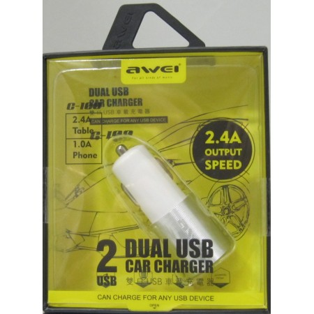 AWEI USB Car adapter dual